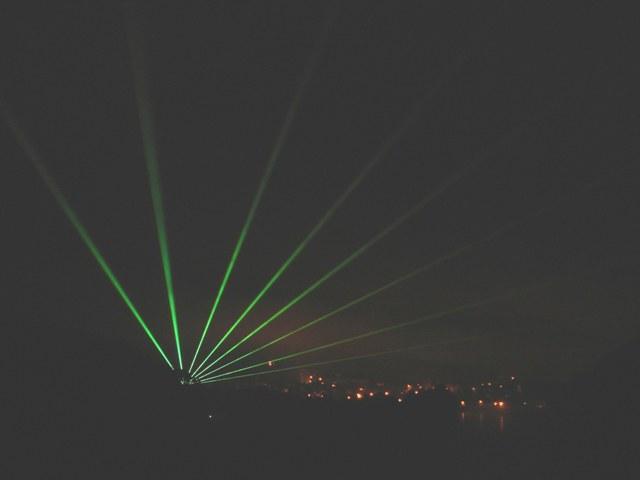 Laser von der Innbrücke B304