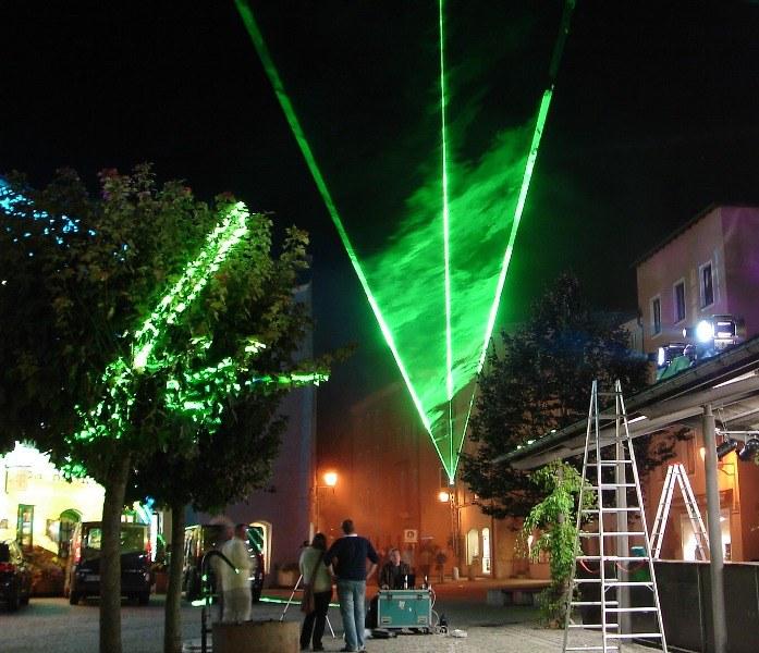 Laser wird konfiguriert