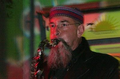 Thomas Binegger am Saxophon in der Hofstatt