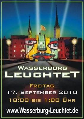 Plakat und Anzeige für Wasserburg Leuchtet 2010 sind fertig.
