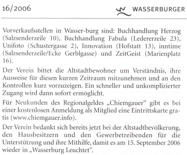 Wasserburger Heimatnachrichten