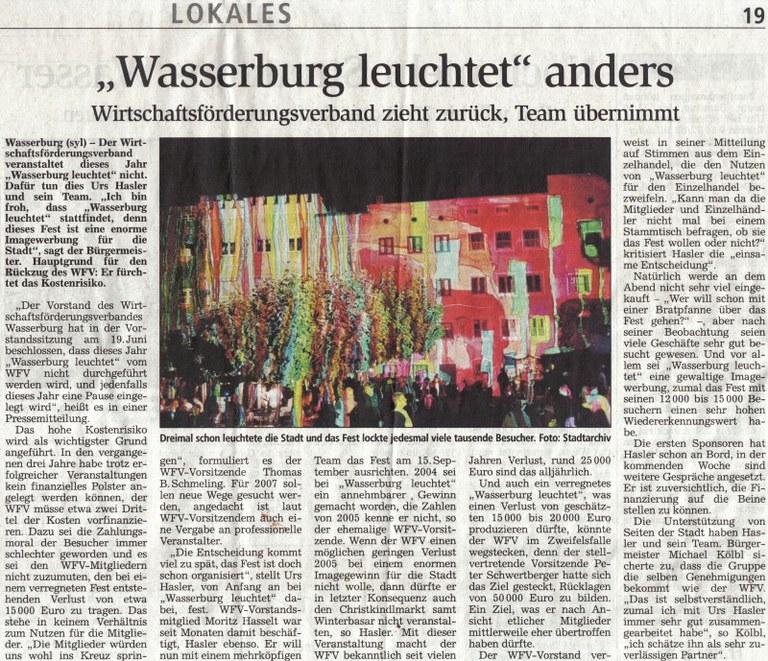 Wasserburg leuchtet anders