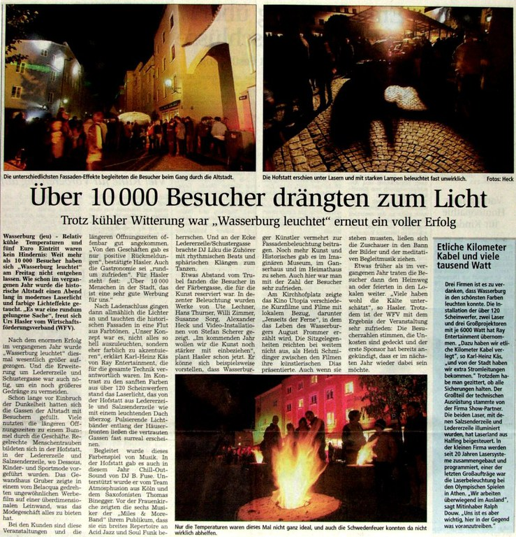 Über 10000 Besucher drängten zum Licht