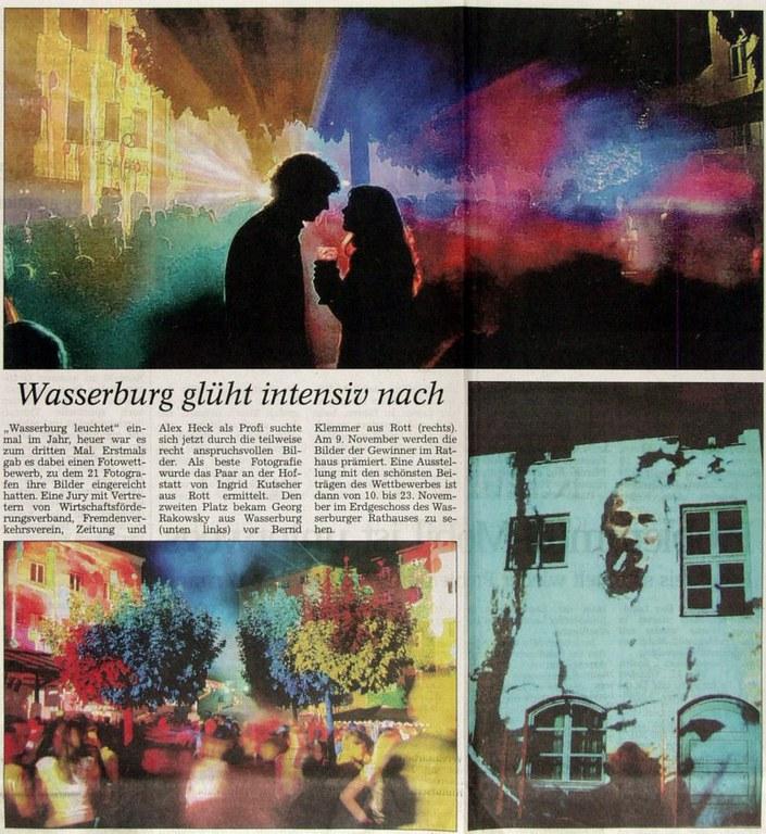 Wasserburg glüht intensiv nach
