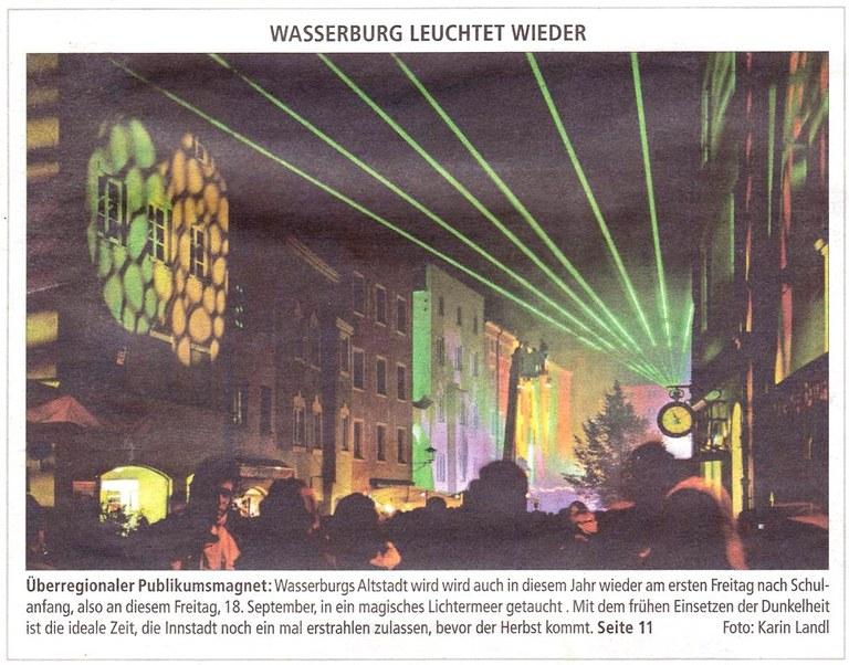 Wasserburg leuchtet wieder