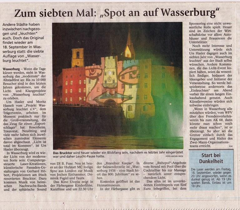 """Zum siebten Mal: """"Spot auf Wasserburg"""""""